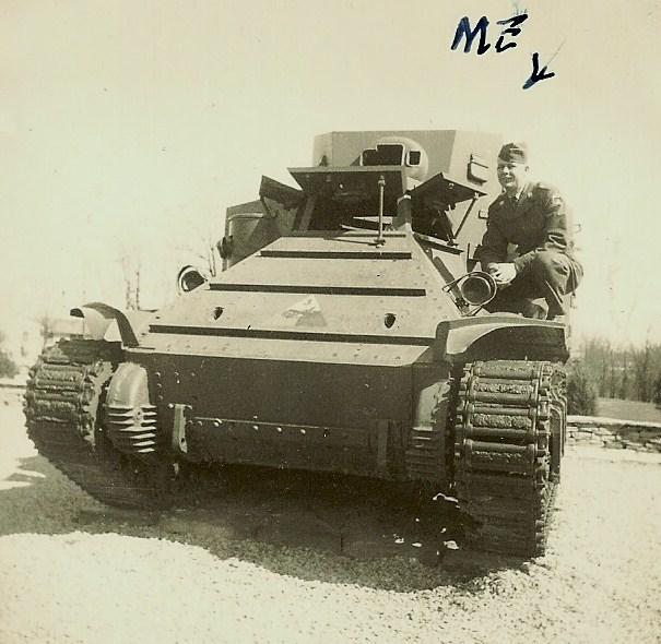 Grandpa on tank