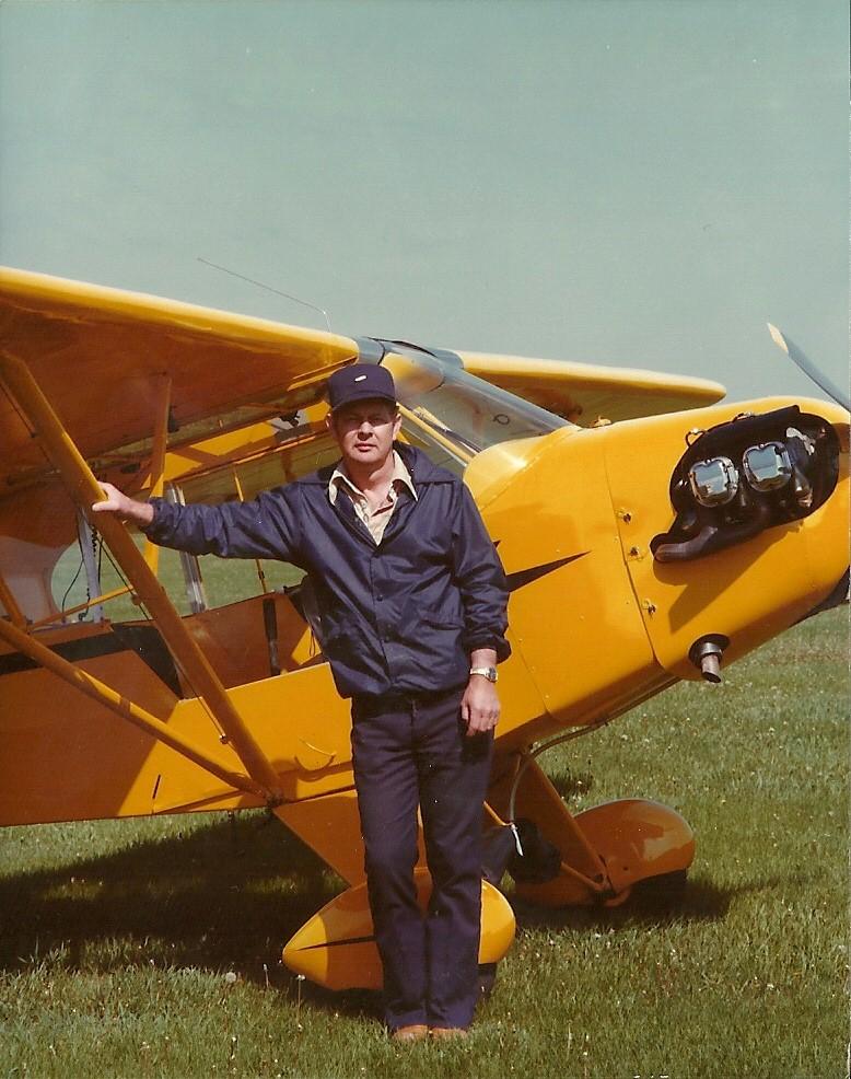 Grandpa with plane
