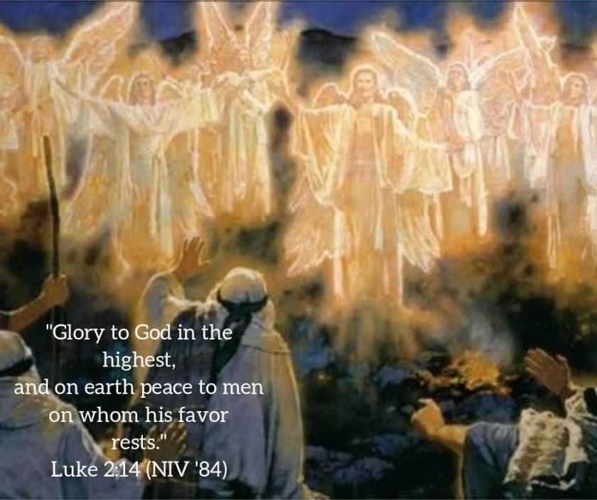 Pic quote Luke 2 v 14