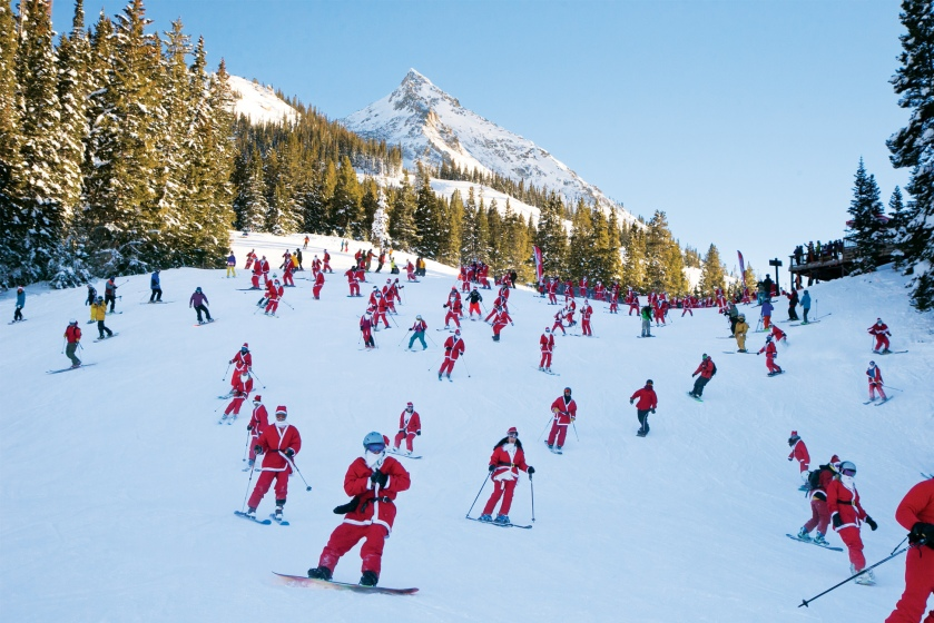 Colorado Christmas santas