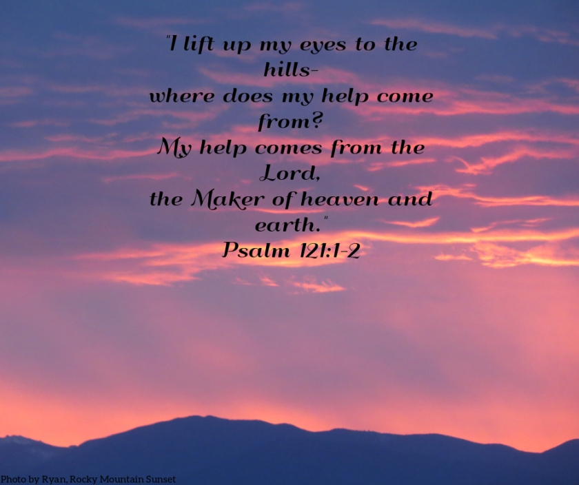 Pic quote Psalm 121 v 1