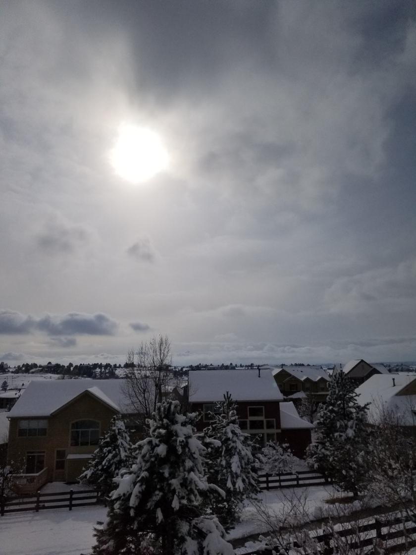 snowy day sunshine