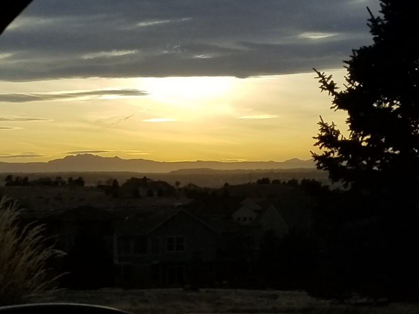 sunset from mailbox