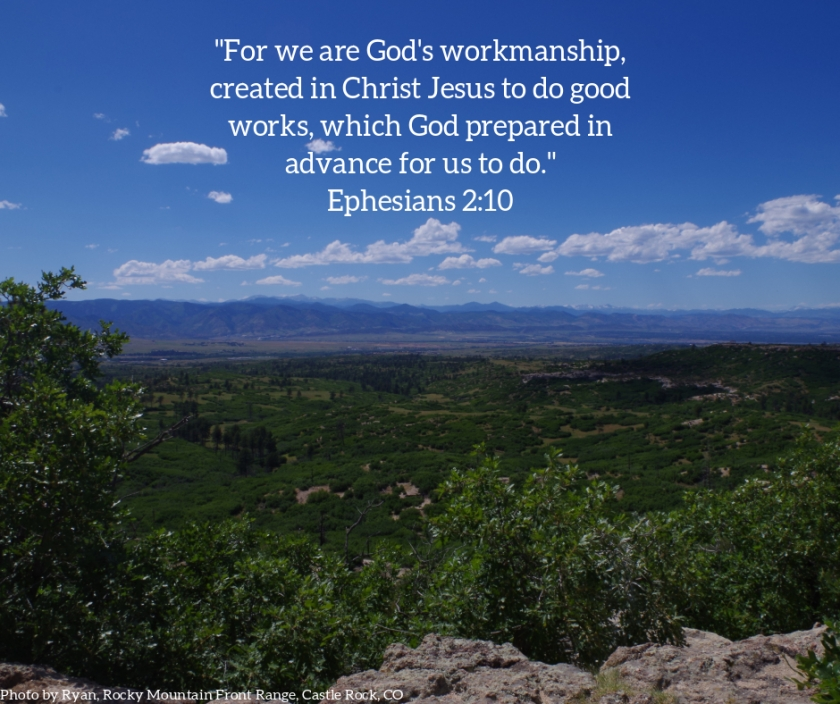 Pic quote Ephesians 2 v 10 view