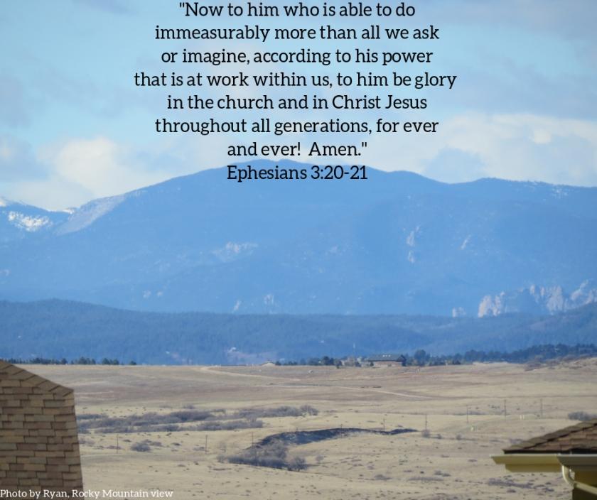 Pic quote Ephesians 3 v 20 v 21