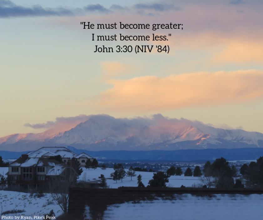 Pic quote John 3 v 30