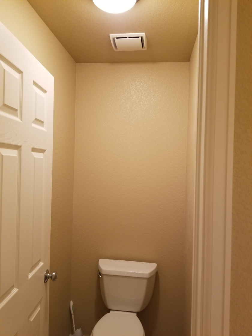 Toilet and fan