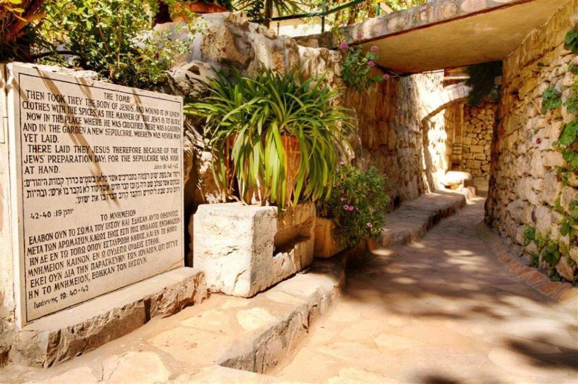 Garden Tomb entrance