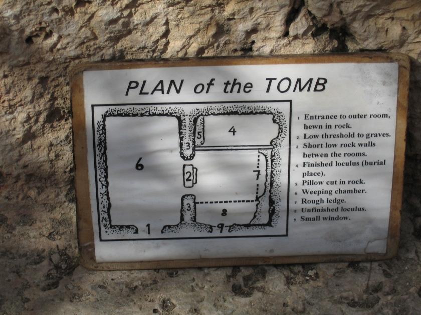 Garden Tomb plan