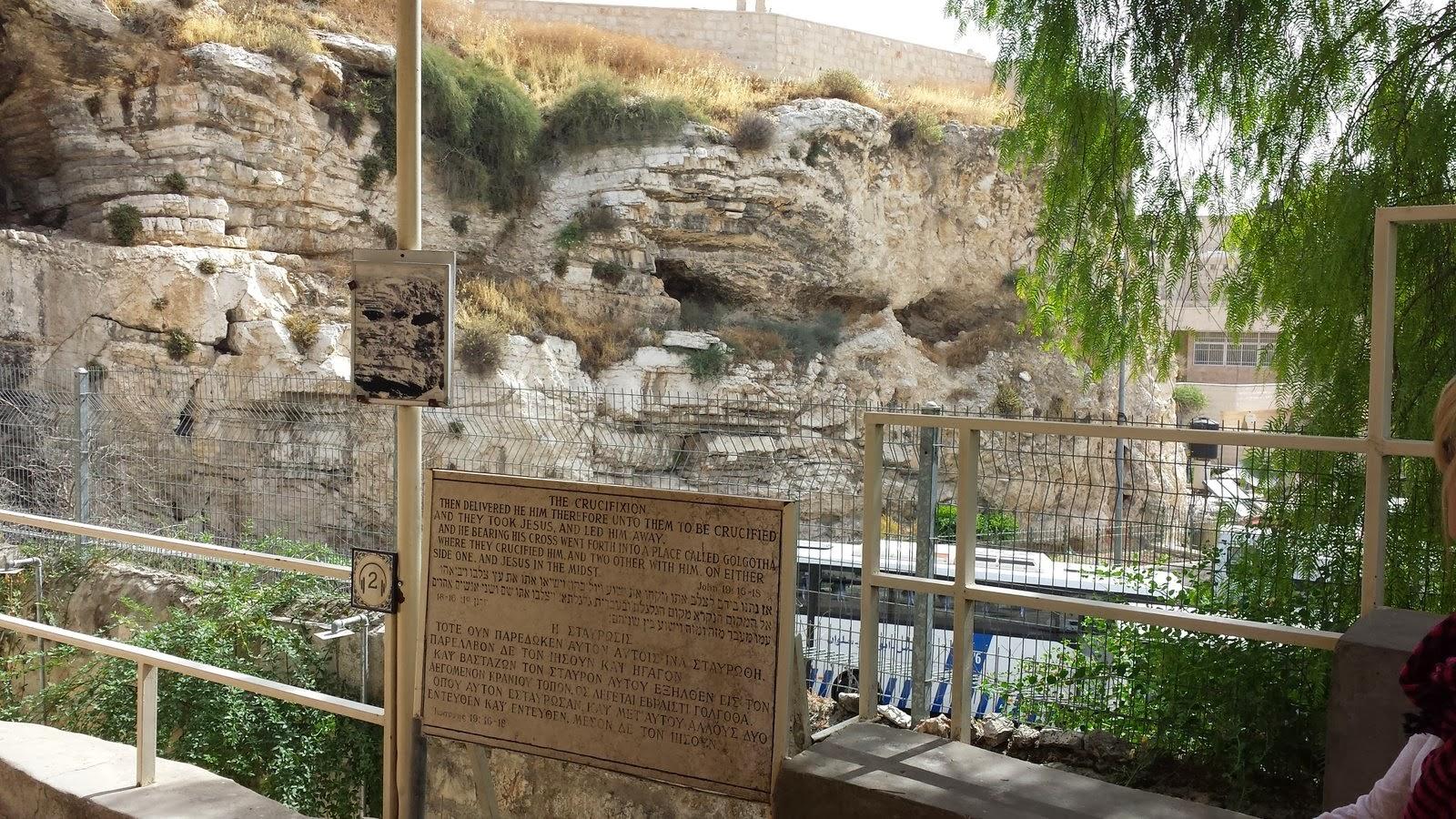 Garden Tomb view of Golgotha