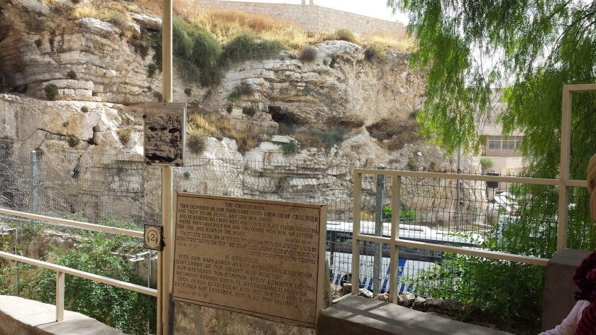 Garden Tomb view of Golgotha