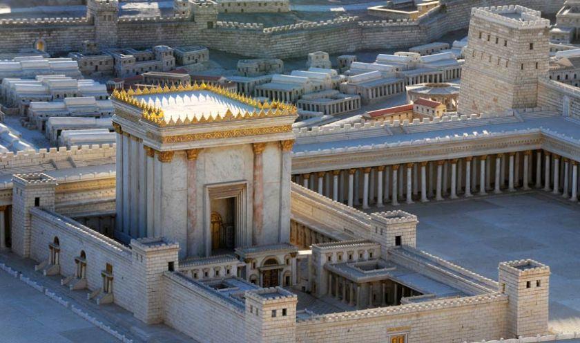 Jewish temple scale model