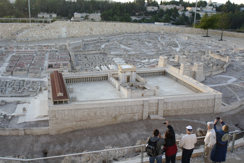 Jewish temple scale model view