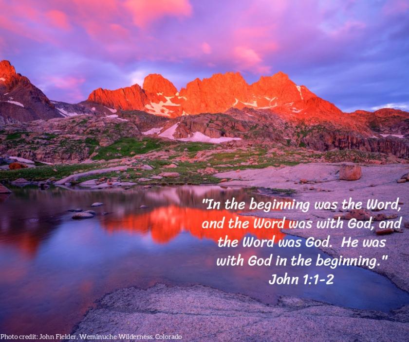 Pic quote John 1 v 1v2