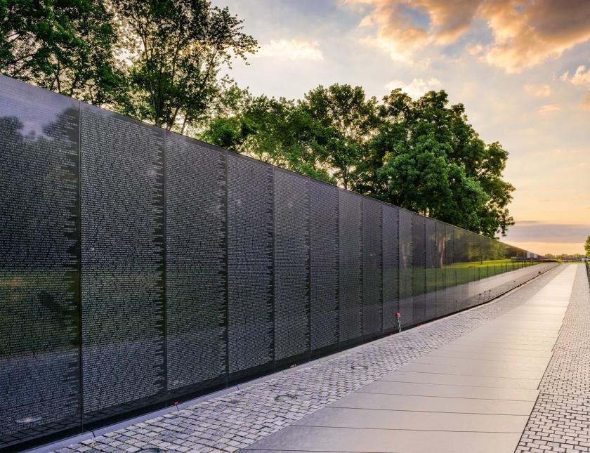 WASHINGTON DC, USA - JUNE 18, 2016: The Vietnam War Memorial in