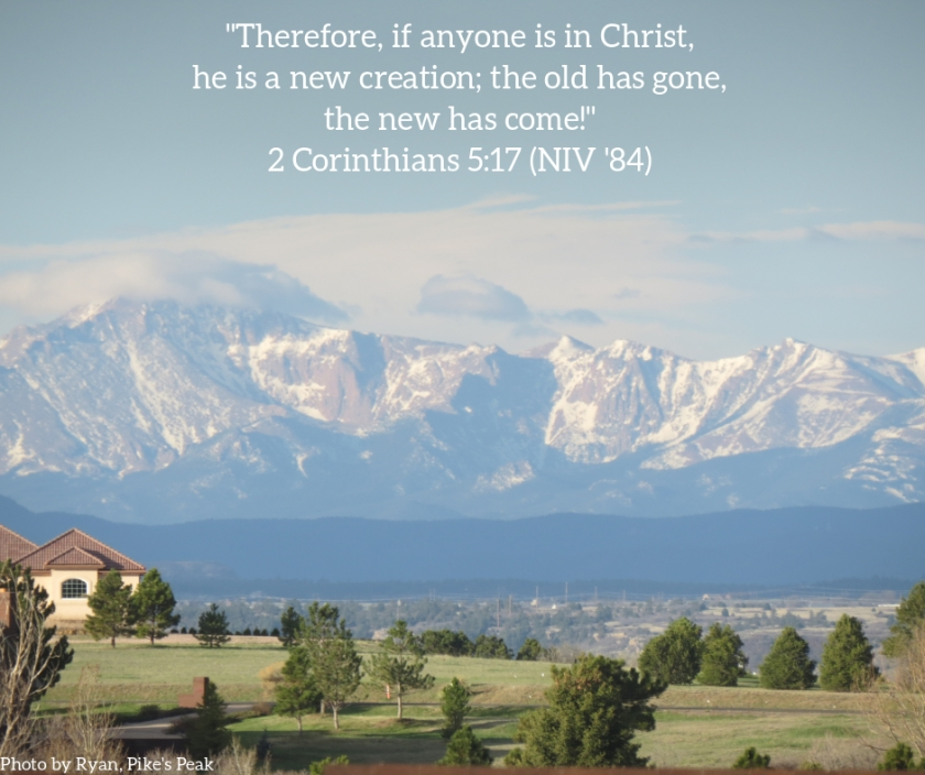 Pic quote 2 Cor 5 v 17