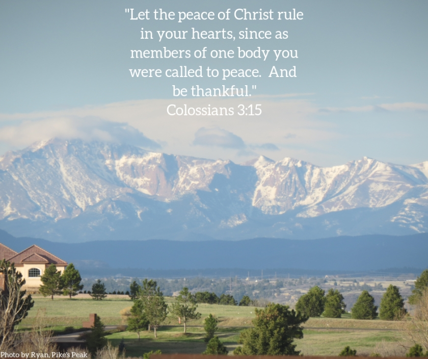 Pic quote Colossians 3 v 15