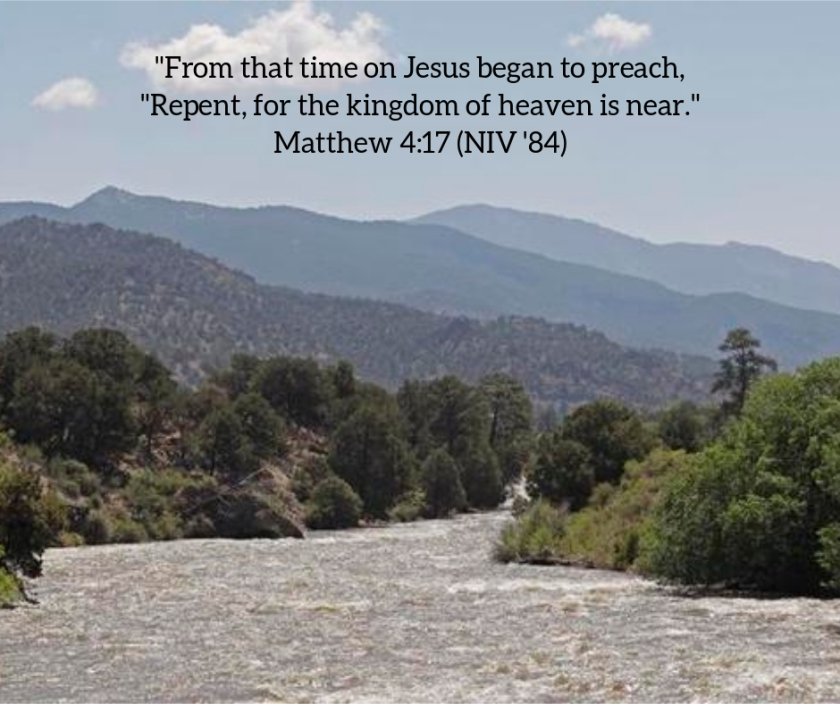 Pic quote Matthew 4 v 17 river