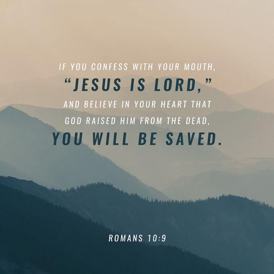 Romans 10 v 9