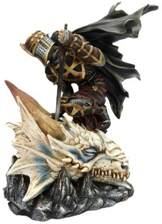 Christian knight with dragon head