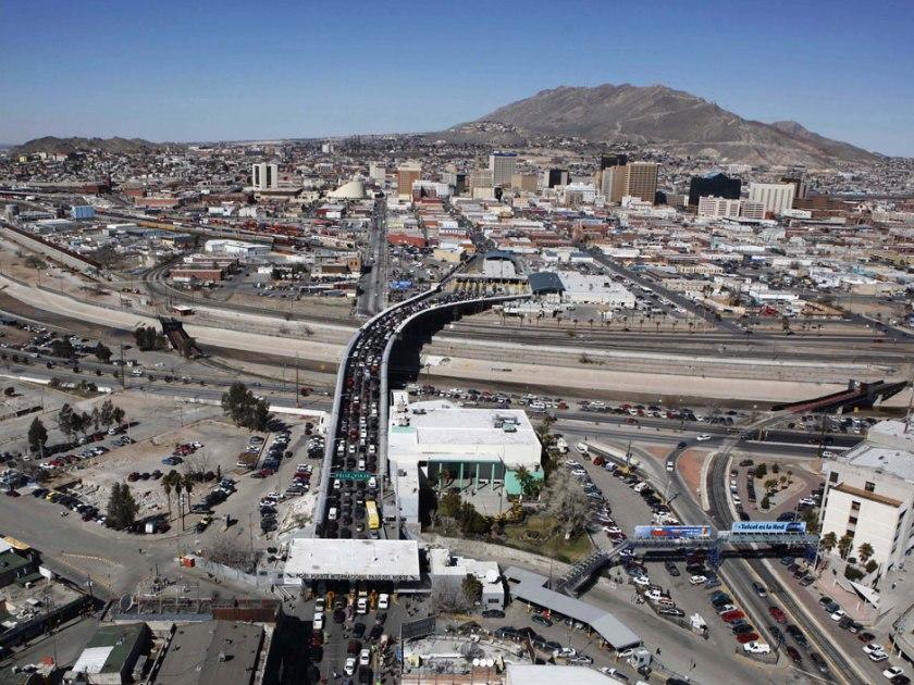 El Paso and Juarez border