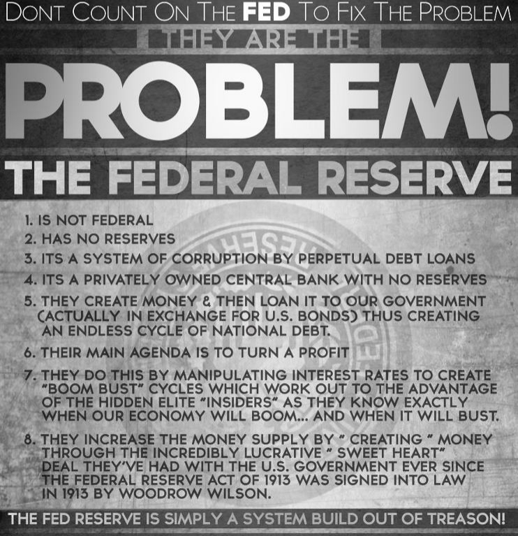 Fed Reserve is the problem