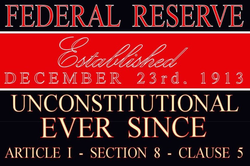 Fed Reserve Unconstitutional