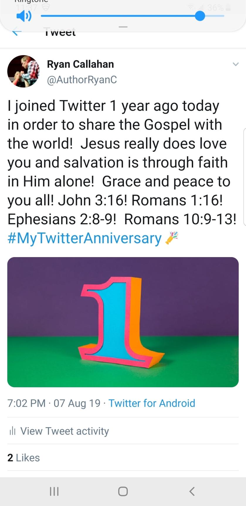 Twitter 1 year