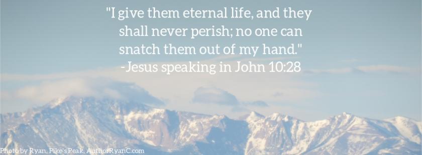 Pic quote John 10 v 28