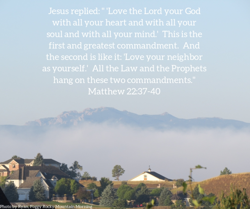 Pic quote Matthew 22 v 37