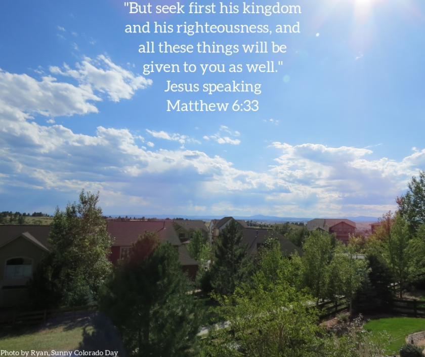 Pic quote Matthew 6 v 33