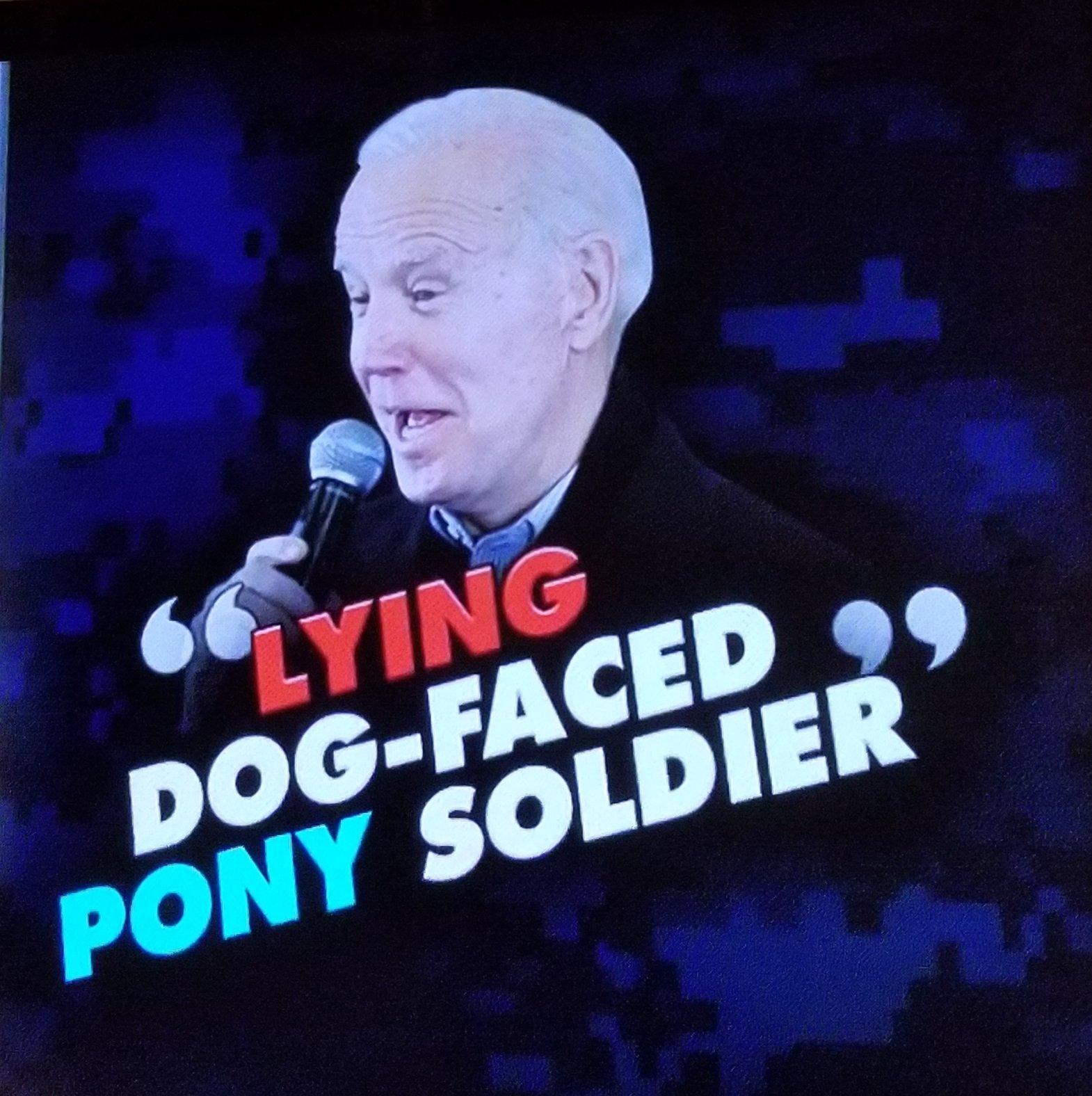 Biden pony soldier quote