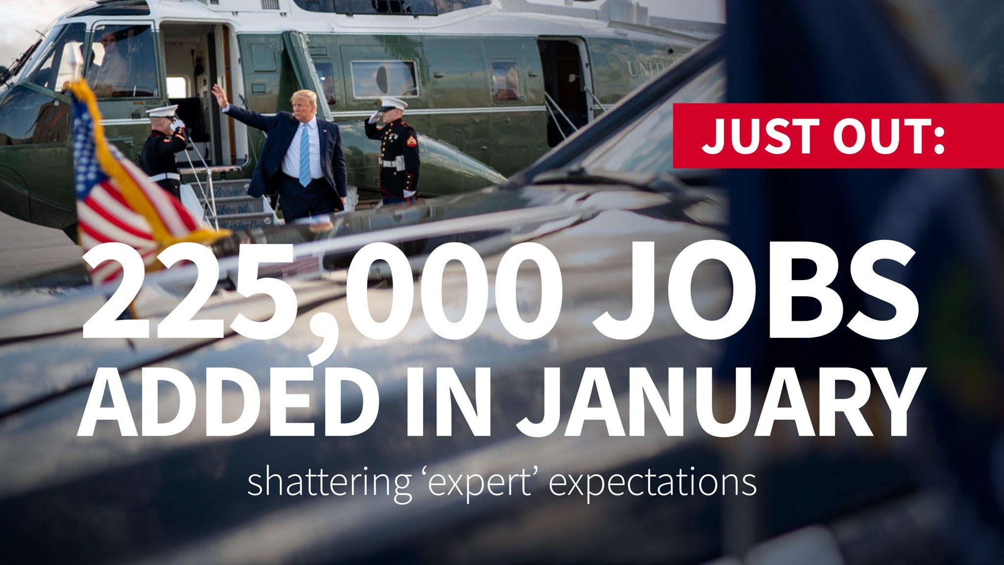 Trump January jobs numbers