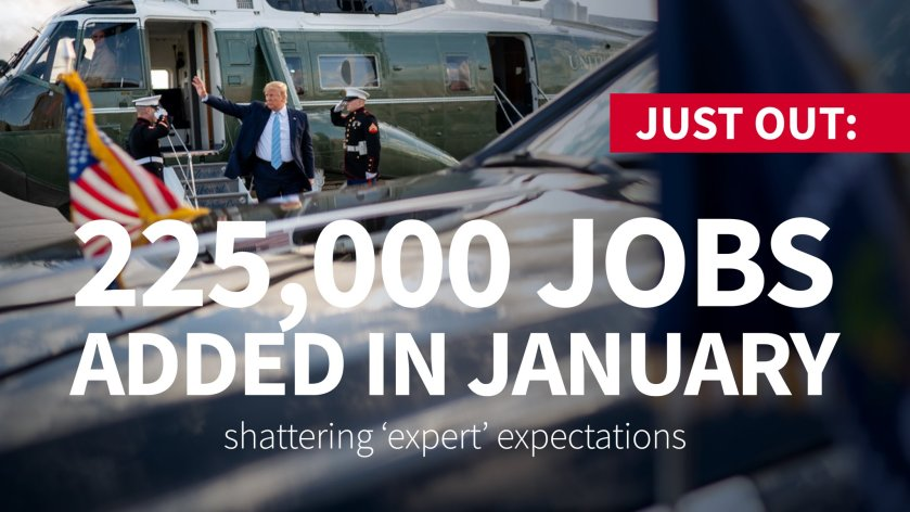 Trump January jobs numbers